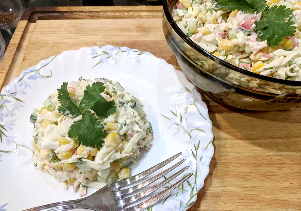 Крабовый салат с крабовыми палочками