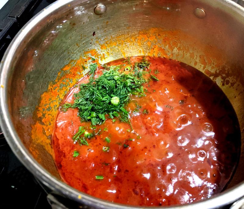 Подлива для спагетти