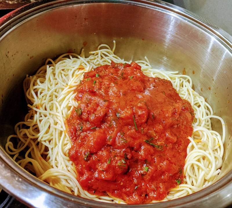 Спагетти без мяса